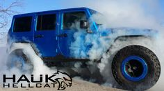 Hauk Hellcat, posted by Kenny Hauk in WWJ Jeep Wrangler Off Road, Blue Jeep Wrangler, Jeep Wranglers, Suv Trucks, Jeep Truck, Jeep Jeep, Jeep Quotes, Jeep Sayings, Jeep Trailhawk
