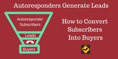 Autoresponders generate leads, but they aren't the best way to convert subscribers into buyers. Find out what else you need to do to get the sale here.