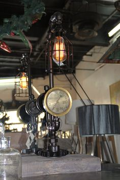 Cool Steam Pipe Table Lamp  #DIY #Handmade #Industrial #Modern #Recycled #Steampunk #Vintage        Still byLionworks Designs specializes in lighting, décor, and furnishings for both your home and business. Most of their focus embodi...