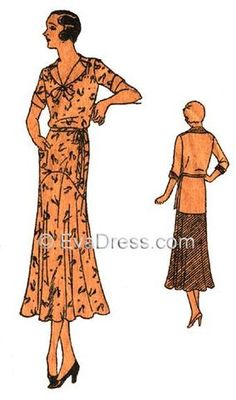 1932 Morning Frock D30-3872