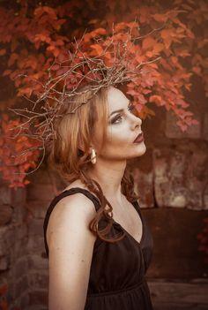 Autumn goddess crown