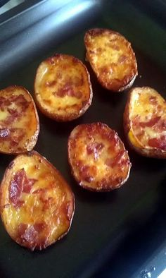 Potato Skins! 4.44 stars, 25 reviews. Yummy! They were a side for my pulled pork sandwiches @allthecooks #recipe #potato #appetizers #easy #hot #quick