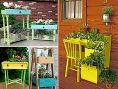 Upcycled Drawer Garden Planters