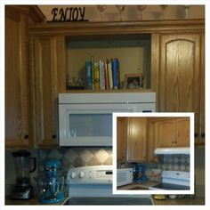 over the range microwave shelf projects done pinterest. Black Bedroom Furniture Sets. Home Design Ideas