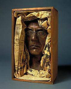 """Auto Portrait"" by Man Ray, Dadaist, Parisian Surrealist, international portrait and fashion photographer Man Ray, Statues, Selfies, Dada Art, Max Ernst, Digital Museum, Found Object Art, Assemblage Art, Famous Artists"