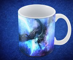 Mug 11Oz Personalizado Dragon Dragon, Mugs, Tableware, White People, Dinnerware, Mug, Dishes, Cups, Porcelain Ceramics