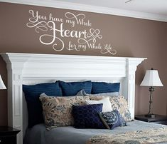 My Whole Heart My Whole Life Wall Decal by Proverbs31Design