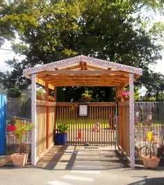 The awesome entrance to ABC Kamo Preschool Beautiful Space, Entrance, Pergola, Preschool, Outdoor Structures, Spaces, Awesome, Entryway, Preschools