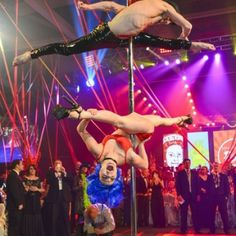 Acrobatic pole Act provided by J&D Entertainment (www.jdentertain.com)