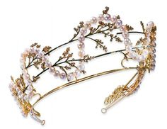 Pearl, Enamel, Diamond and Gold Tiara, by Rene Lalique, Christie's.
