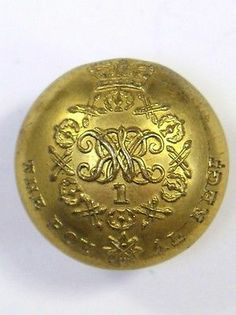 1st (the Royal) Regiment of Foot (William IV) Officers Coatee Button.   eBay