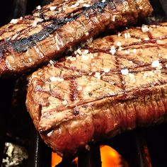 Steak with sea-salt...