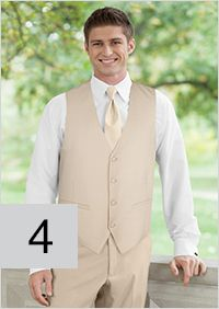 Style 4: Tan Pant & Vest Jacketless package from $139