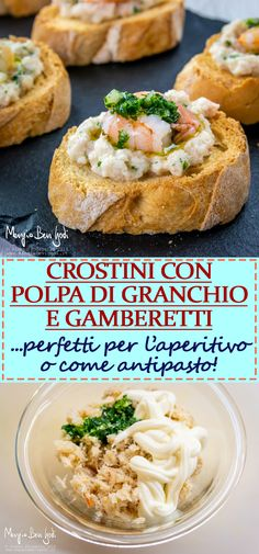 Fish Recipes, Healthy Recipes, Crostini, Antipasto, Food Photo, Menu, Easy Meals, Appetizers, Food And Drink
