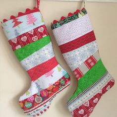 Xmas stockings Xmas Stockings, Sewing, Holiday Decor, How To Make, Home Decor, Couture, Room Decor, Fabric Sewing, Stitching