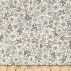 Kaufman London Calling Lawn Floral Grey from @fabricdotcom  Designed for Kaufman Fabrics, this very lightweight fabric is a finely woven, high count combed cotton lawn that is very soft and has an ultra smooth hand. It is perfect for flirty blouses, dresses, shirts, lingerie, tunics, tops and even quilting.