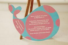 Backside of invitation with the party details...so cute I just love them!!