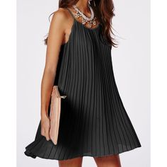 $12.99 Sexy Spaghetti Strap Solid Color Pleated Dress For Women