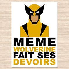Affiche décorative Wolverine