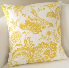 Yellow Decorative Pillow Cover 18x18 Accent Cushion by nestables, $25.00