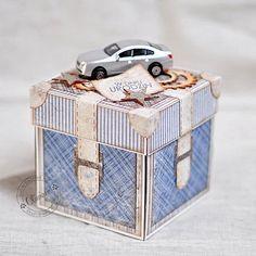 Birthday Masculine E-box *DT Maja Design* - Scrapbooking Card In A Box, Pop Up Box Cards, Memories Box, Boite Explosive, Exploding Gift Box, Box Cards Tutorial, Card Tutorials, Organizer Box, Surprise Box