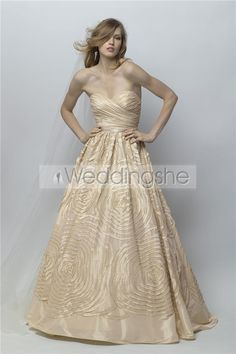 Glamorous A-line Sweetheart Floor-Length Chapel Ruched Color Wedding Dresses