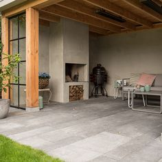 Best Garden Decorations Tips and Tricks You Need to Know - Modern Outdoor Fireplace Designs, Backyard Fireplace, Outdoor Rooms, Outdoor Gardens, Outdoor Living, Outside Patio, Outside Living, Pergola Patio, Backyard Patio