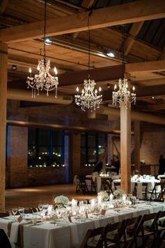 Gorgeous rustic style wedding venue in Chicago, the Bridgeport Art Center // image: Ben Elsass Photography