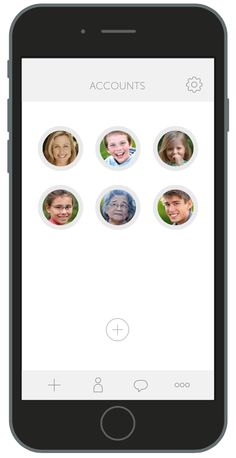 Manage your family's health from a single app, by creating multiple accounts. You can even give temporary access to doctors and other caregivers.