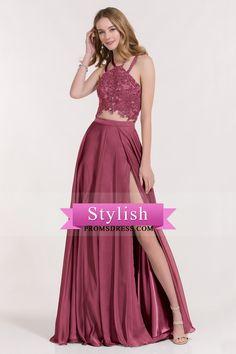 2017 Spaghetti Straps Prom Dresses A Line Open Back With Applique Chiffon