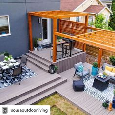 Our new Enhance Rocky Harbor decking + this deck = outdoor perfection!  #trexdecking #compositedecking #trexenhance #enhancerockyharbor…