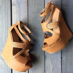 Hot Woven Strap Wedges Strappy Days