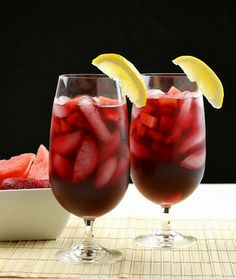 It's finally the time of year where we can make some delicious drink for ourselves and friends.I can't praise this Strawberry-Watermelon Red Wine Sangria enough. It's so fantastic, wonderful!!