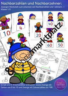 Unterrichtsmaterial zu Zahlen kennenlernen Arbeitsblätter, Fördermaterial für Klassenstufen 1, 2