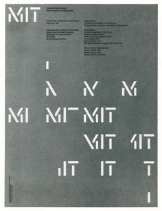 Objective Visual Design: Recent American Developments Part One: MIT, poster