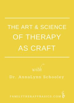 Dr. Anna Lynn Schooley, professor and family therapist, joined me recently for a conversation about therapy as a craft. AnnaLynn is a professor, clinical supervisor, licensed therapist in mental health and marriage and family therapy. She identifies as a family therapist; as a result, our