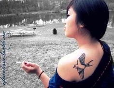 I love bird tattoos so much, probably why I have three birds on me...man, I need to look into variety. Haha.