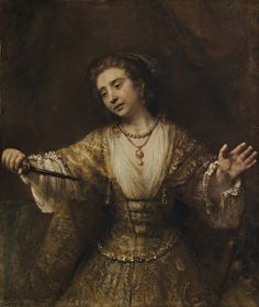 Rembrandt van Rijn - Lucretia, 1664. National Gallery of Art, Washington, DC.