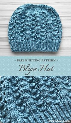 free knitting patterns This lovely hat features an easy-to-memorize 4 row repeat of simple stitches that create a pretty, lacy fabric. Made with bulky 5 yarn, its a super quick knit. Beanie Knitting Patterns Free, Crochet Pattern Free, Knit Patterns, Free Knitting, Baby Knitting, Knit Crochet, Crochet Hats, Simple Knitting Patterns, Beanie Pattern Free