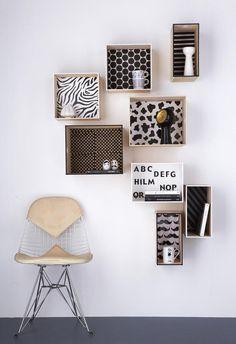 Regal selber bauen aus individuell gestalteten Boxen
