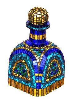 Patron tequila bottle mosaic