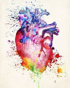 Imagen de anatomy, art, and medicine Human Anatomy Art, Anatomy Drawing, Tableau Pop Art, Medical Wallpaper, Biology Art, Bild Tattoos, Medical Art, Heart Painting, Heart Art