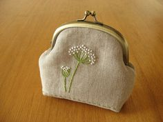 Queen Anne's Lace Pouch by barefootshepherdess, via Flickr