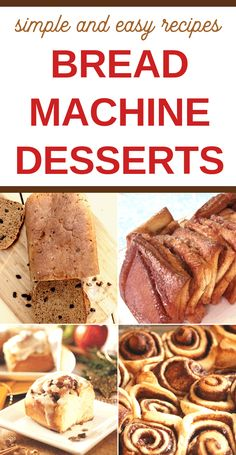 bread recipes sweet Bake up some yummy treats with this delicious recipes for bread machine desserts! With over 30 easy bread machine dessert recipes here, you are sure to find a fa Dessert Bread Machine Recipes, Bread Machine Mixes, Bread Machine Rolls, Best Bread Machine, Bread Maker Recipes, Healthy Bread Recipes, Delicious Recipes, Bread Machines, Bar Recipes
