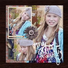 Autumn Fall digital scrapbook page using Autumn Frost by Sahlin Studio