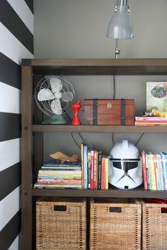 Awesome shelf, awesome peel & stick wallpaper