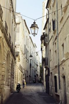 A quaint side street in Montpellier, France, attended a chocolate festival here... yum!