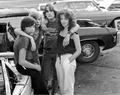 Photos of the cast of Over The Edge including Matt Dillon and tomboy style icon Pamela Ludwig by Michael Ochs, 1979