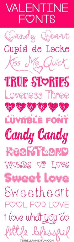 Everyone is working on valentine's day projects, crafts or even scrapbooking – so I have pulled together 15 free valentines day fonts that anyone can download. Dafont.com is one of my favorite font download sites, they have a font for EVERYTHING. 15 Free Valentines Fonts DJ Candy Heart Cupid de Locke Kiss Me Quick True …