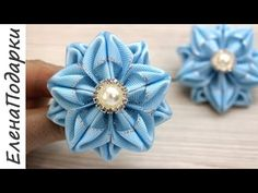 Ivory Lavender Mint flowers and leaves, Satin Headband, Kanzashi flowers. Diy Lace Ribbon Flowers, Ribbon Flower Tutorial, Ribbon Embroidery Tutorial, Cloth Flowers, Kanzashi Flowers, Ribbon Art, Fabric Flowers, Ribbon Rose, Bow Tutorial